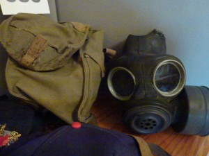 Military gas mask satchel